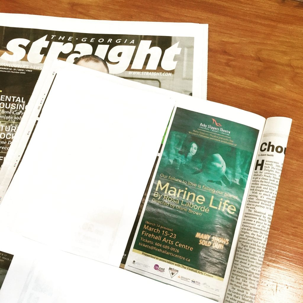 Ruby Slippers Theatre, Marine Life | Newspaper Advertisement