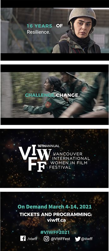 Video trailer still photos for Vancouver International Women's Film Festival, Vancouver Chapter
